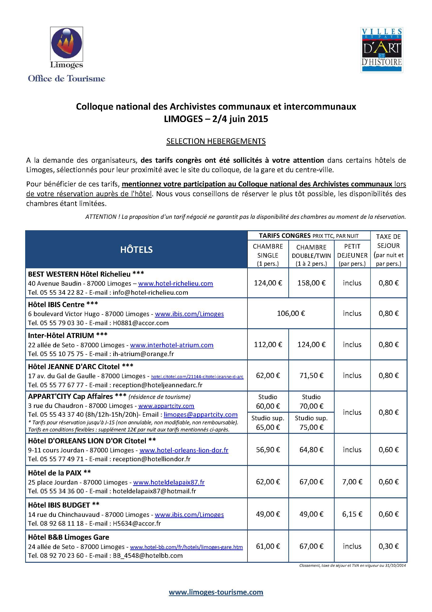 Congrès_AAF2015 - Sélection Hébergements_Page_1
