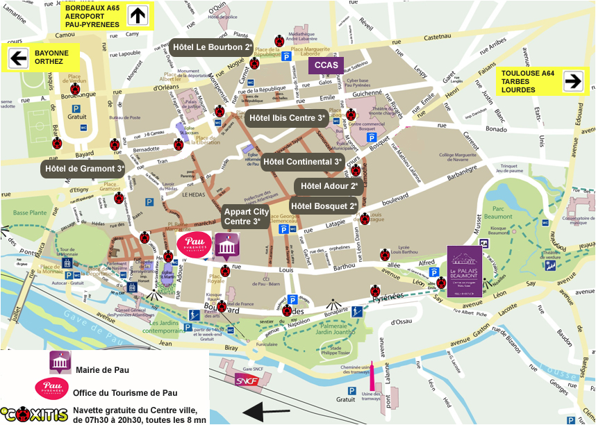 Plan Hôtels Pau